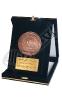 مدال فلزی با جعبه جیر - نهمین مراسم دانش آموختگی دانشگاه صنعتی شریف - پردیس بین الملل - جزیره کیش